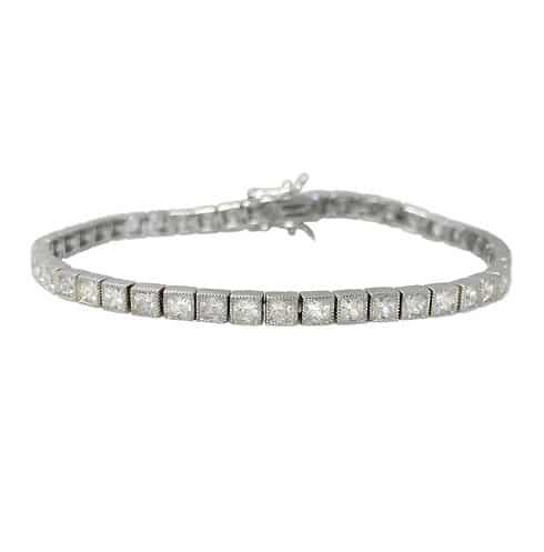 Larimar Bangle Sideway Teardrop Horseshoe Bracelet